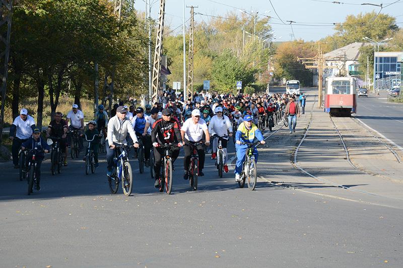 На велосипедах по городу