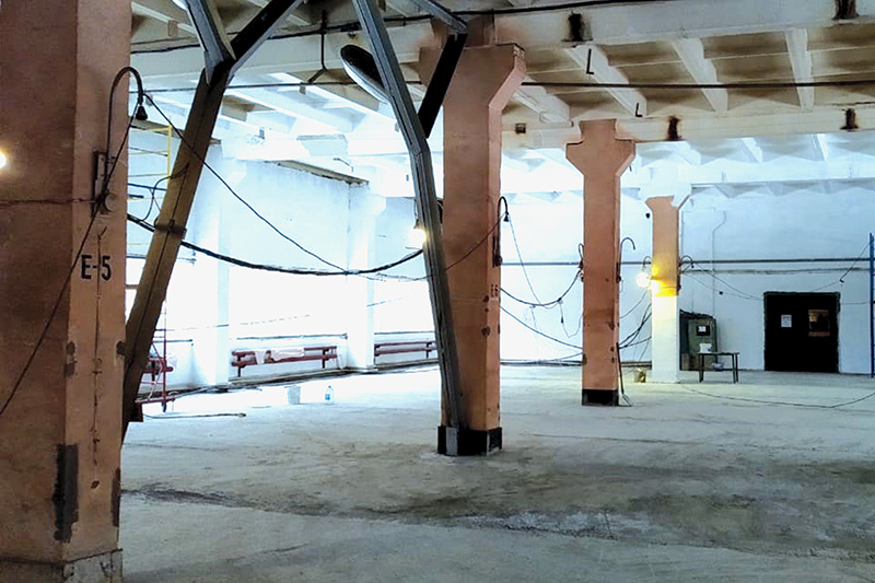 На складе идет ремонт